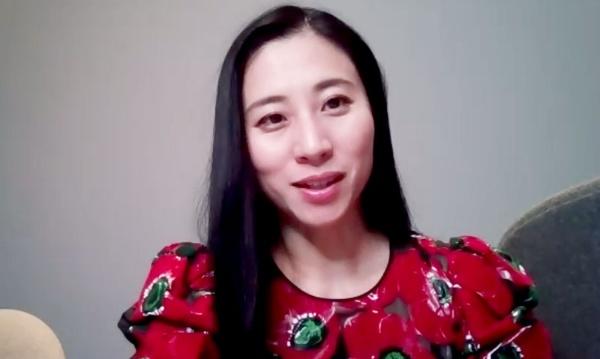 日本のジェンダー・ギャップにおける課題について話す三浦瑠麗さん(オンラインで取材)
