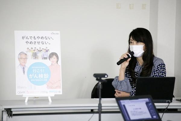 一般社団法人シンクパール代表理事の難波美智代さん。自身も過去に子宮頸がんを罹患