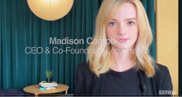 リーダ・ヘルスのマディソン・キャンベル共同創業者CEO(出所/SXSW 2021)