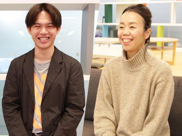 メンバーズ採用マネジャー 内橋さん(右)と採用担当 菅沼さん(左)。2人は、エシカル就活を志す学生が増えることに期待を寄せる(写真/メンバーズ提供)