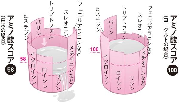■アミノ酸スコアを水の入った桶に例えると…