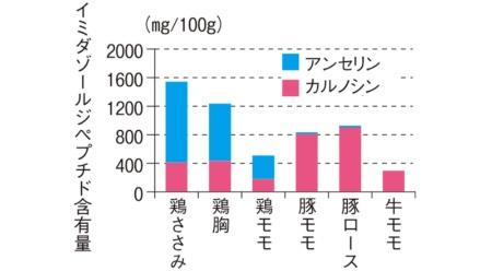 イミダゾールジペプチドは鶏胸肉に多く含まれる