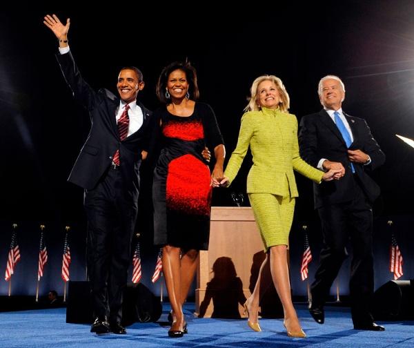 2008年11月、バラク・オバマとジョー・バイデンが次期大統領・副大統領として当選し、勝利演説をしたときの情景を、筆者は今でもよく覚えている(写真:AFP/アフロ)