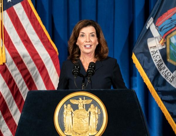 ニューヨーク史上初の女性知事となったキャシー・ホークル氏(写真/ZUMA Press/アフロ)