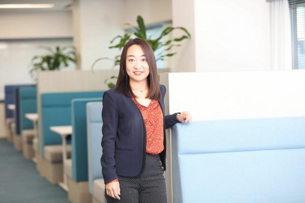 米国NUL System Services Corporation(NSSC)代表取締役社長の皆川和花さん(撮影場所は日本ユニシス本社)