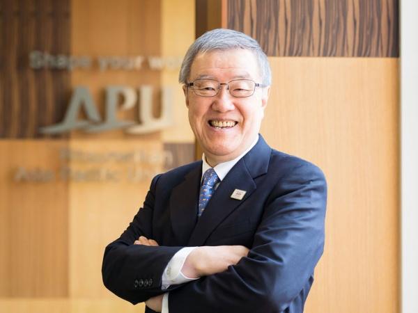 立命館アジア太平洋大学(APU)の学長を務める出口治明さん