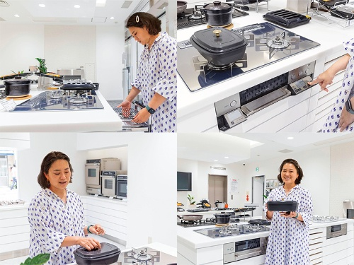 付属の「ザ・ココット」や広くて使い勝手のいいグリルなど、デリシアには調理をもっと楽しめる工夫があるのがいいですね。